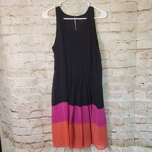 Apt 9 Sleeveless Shift Colorblock Dress Black Pink